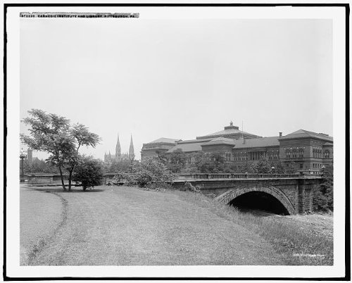 Photo: Carnegie Institute,bridge,museums,Library,Pittsburgh,Pennsylvania,PA,c1910