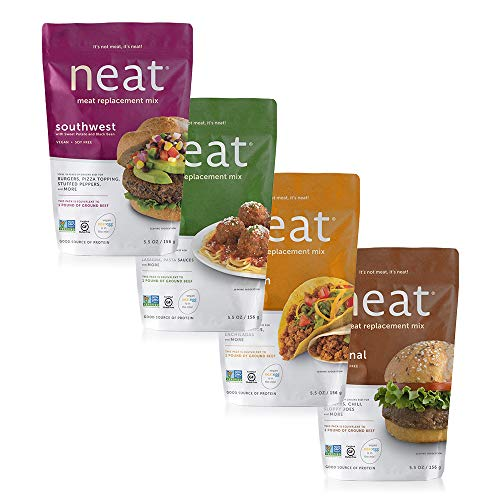 neat Vegan Campout - 16 Servings Equivalent To 4 lbs. Of Meat (5.5 oz.) (Pack of 4)