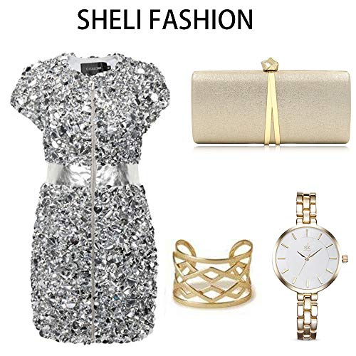 Gold Handbags Evening Small Day Bag Chain Bag Women Shoulder With Clutch Evening Fashion fwp7qc