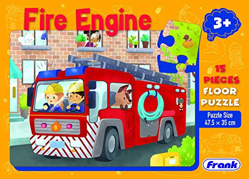 (Frank Fire Engine Floor Puzzle for 3 Year Old and Above(15 Pieces))