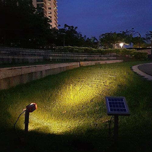 HEX 30X Twin Solar Spotlight Warm White LED for Outdoor Garden Yard Landscape Downlight by Solar Light Mart (Image #6)