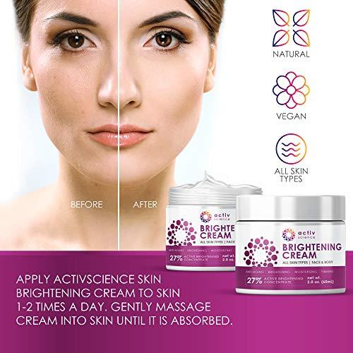 519gfVJ3SML - ACTIVSCIENCE Whitening Cream - Powerful Skin Lightening Cream for Face & Body. Dark Spot, Melasma & Hyperpigmentation Treatment. 2 fl oz.