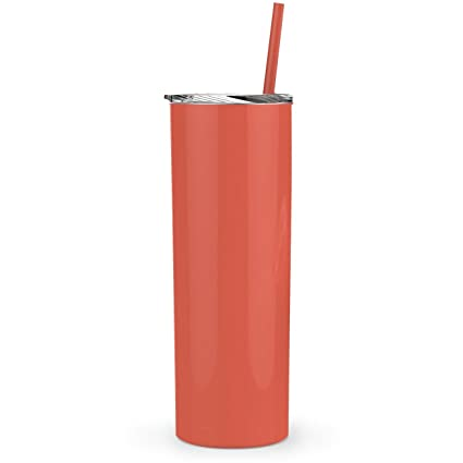 30ddc818633 Amazon.com: Maars Skinny Steel Stainless Steel Tumbler, 20 oz | Double Wall  Vacuum Insulated (Coral): Kitchen & Dining