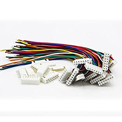 Allytech 10Pcs 6S JST-XH 7pin RC Lipo Battery Balance Extension Charger Plug Cable For RC Helicopter 10 Pack