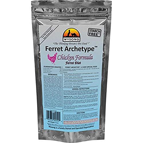 Wysong Ferret Archetype Chicken Formula - Raw Ferret Food - 7.5 Ounce Bag