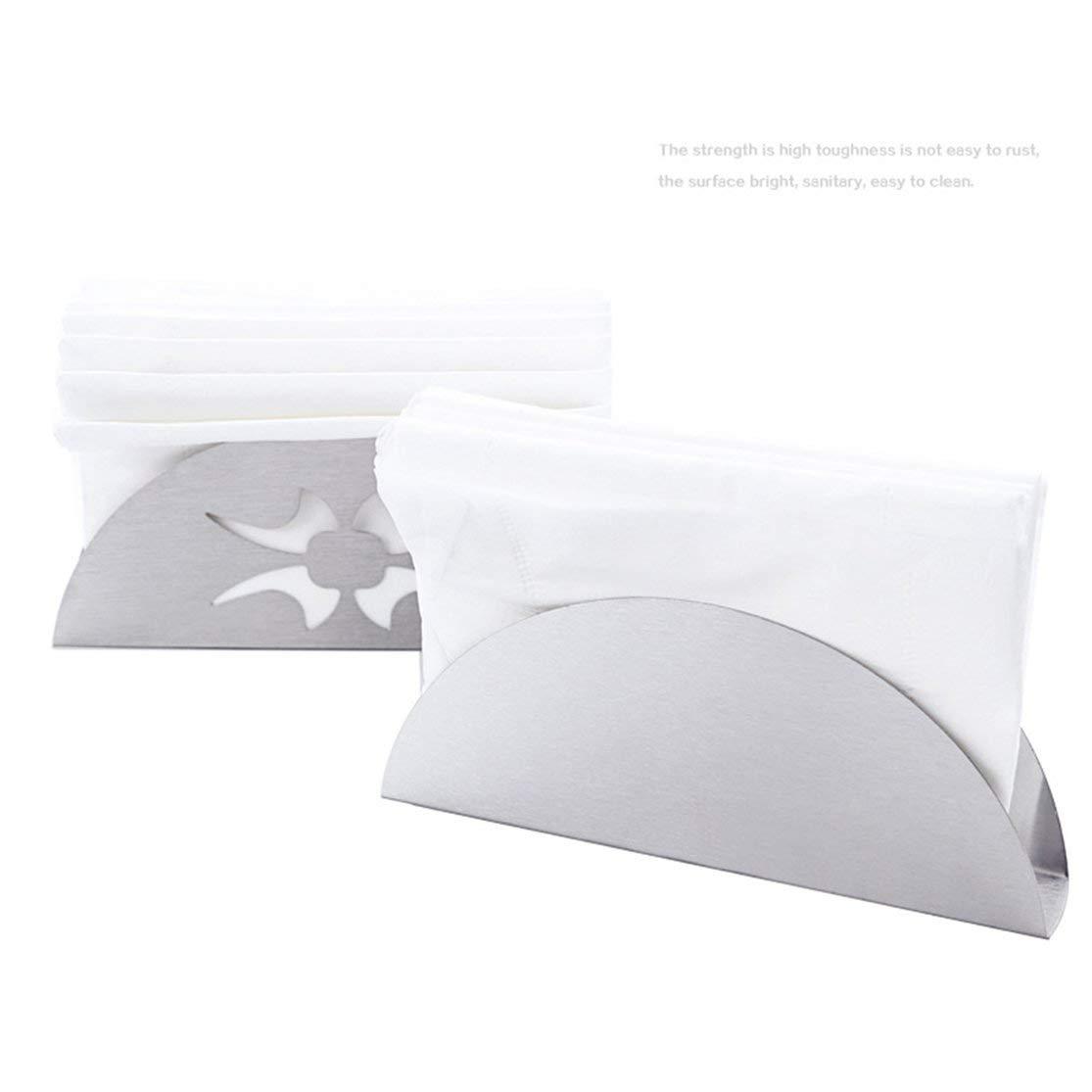 Portatovaglioli in acciaio inossidabile a forma di ventaglio con supporto per fazzoletti di carta tovagliolo e clip verticale per cucina domestica Kaemma supporto per fazzoletti
