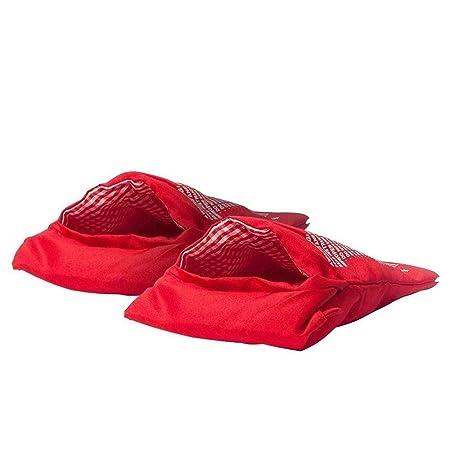 Tiempo 2 X Bolsa para cocer Patatas de microondas Rojo ...