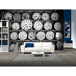 wall26 - Vintage Watches - Removable Wall Mural | Self-adhesive Large Wallpaper - 100x144 inches