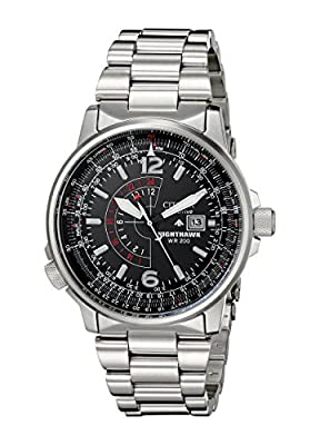 Citizen Men's BJ7000-52E Nighthawk Stainless Steel Eco-Drive Watch