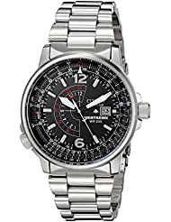 Citizen Mens Eco-Drive Promaster Nighthawk Dual Time Watch with Date, BJ7000-52E