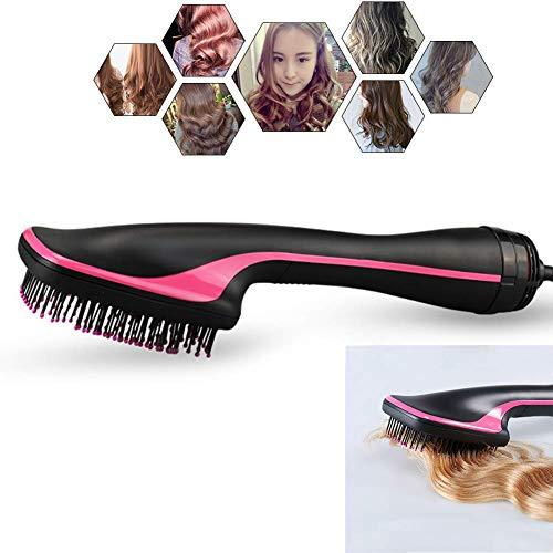 Secador De Cabello Y Estilizador 2 En 1 En Un Paso,Cepillo De Paleta De Aire Caliente De Iones Negativos para Mujeres Cepillo Salon Hair Straightener: ...