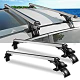 "Auxmart 2Pcs 48"" (122cm) Universal Roof Rack Cross Bars and 3 Pair of Mounting Clamps"