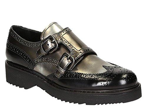 Gris Cuero Con 3E5740AZ3F0308 Mujer Correa Zapatos Prada Monk Et1qzXwwx