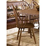 Liberty Furniture Farmhouse Windsor Back Dining Arm Chair in Oak Review