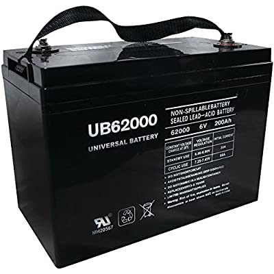 Universal Power UB62000 (45969) - 6.00 Volt 2000 AH SLA Replacement Battery