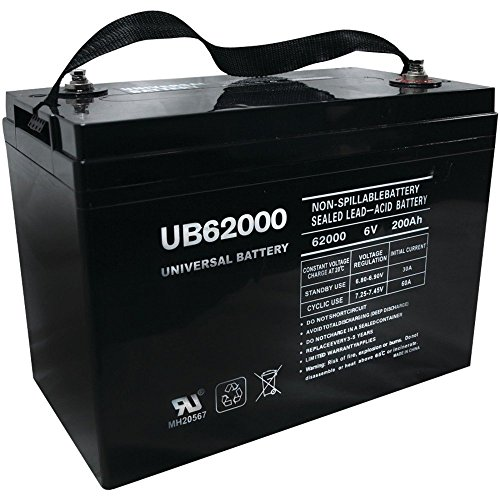 UB62000 6V 200AH Battery for Champion M83CHP06V27 Golf Cart RV Boat by Universal Power Group