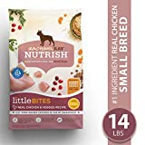 Rachael Ray Nutrish Little Bites Small Breed Premium Natural Dry Dog Food, Real Chicken & Veggies Recipe, 14 Lbs