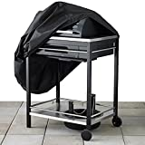 Heavy Duty BBQ Grill Cover Gas Grills Outdoor Barbeque Grill Covers Waterproof & Weather Resistant HZC02 (Black)