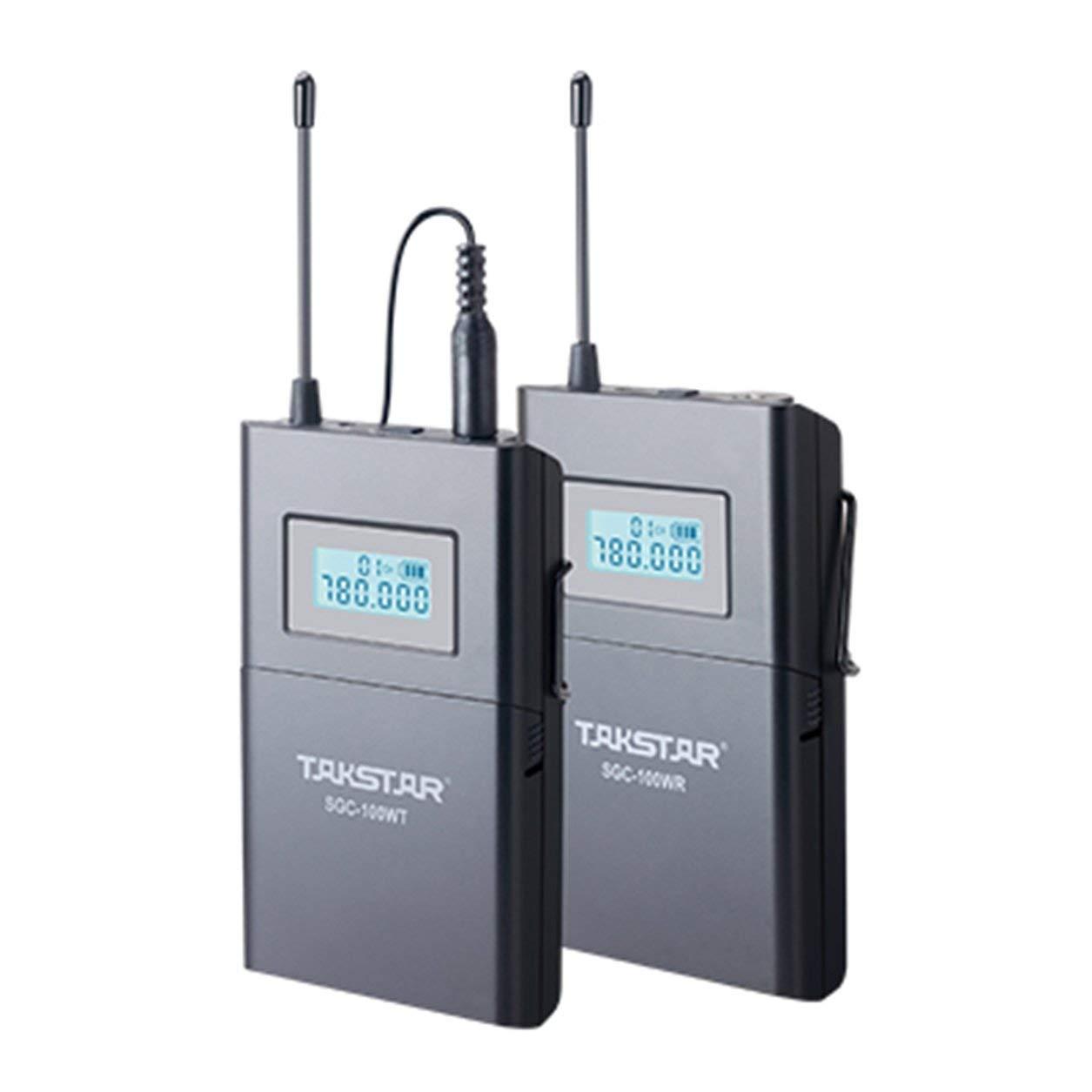 Uhf Frequenza Sgc-100W Wireless Lavalier Microfono A Clip Adatto Per Canon Dailyinshop