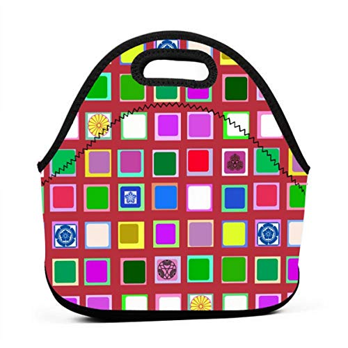 Cherry-Viewing Screen_6650 Waterproof Insulated Lunch Portable Carry Tote Picnic Storage Bag Lunch box Food Bag Gourmet Handbag For School -