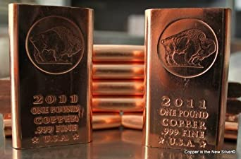 10 One Pound Quot Chubby Quot 999 Fine Copper Bullion Bars Metal
