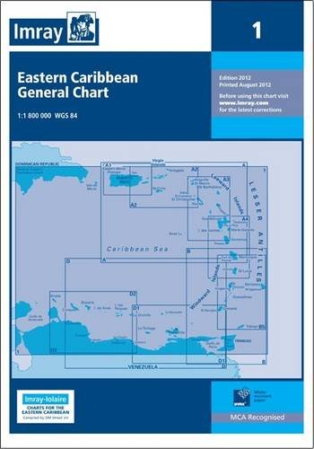 Imray Iolaire Chart 1: Eastern Caribbean General Chart