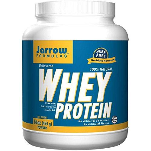 Jarrow Formulas, 100% Natural Whey Protein Powder, Unflavored, 16 oz (454 g)