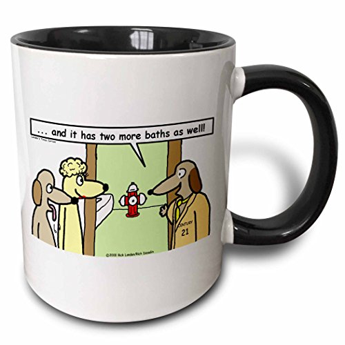 3dRose Dog Realtors Black mug 2974 4