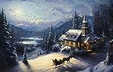 DaySpring Thomas Kinkade 16-Count Christmas Card Kit - Sunday Evening Sleigh Ride