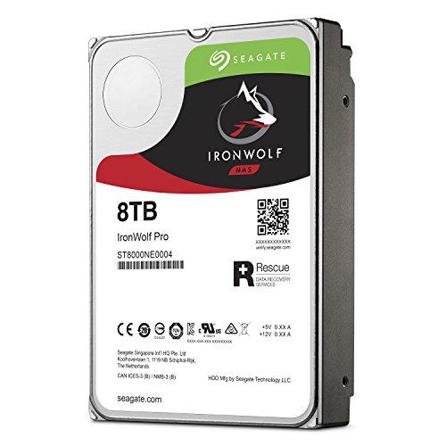 Seagate IronWolf Pro 8 TB NAS RAID Internal Hard Drive - 7,200 RPM SATA 6 Gb/s 3.5-inch (ST8000NE0004) by Seagate (Image #3)