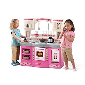 Step2 prepare and share kitchen set pink for Little girl kitchen playset