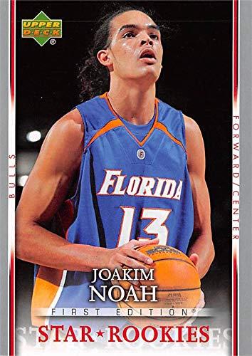 3b8ae657a2b Joakim Noah basketball card (Florida Gators) 2007 Upper Deck Star ...
