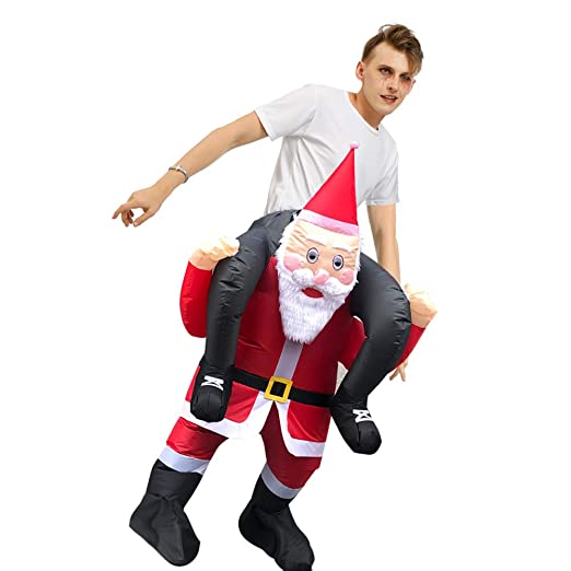 WJHFF Navidad Santa Claus Ropa Inflable para Adultos ...