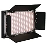 Fotodiox Pro LED-508AS, Professional 508 LED Dimmable, Dual Color Photo/Video Light Kit with included Barndoors, Bi-Color Control, Removable Diffusion Panel, Batteries and Charger