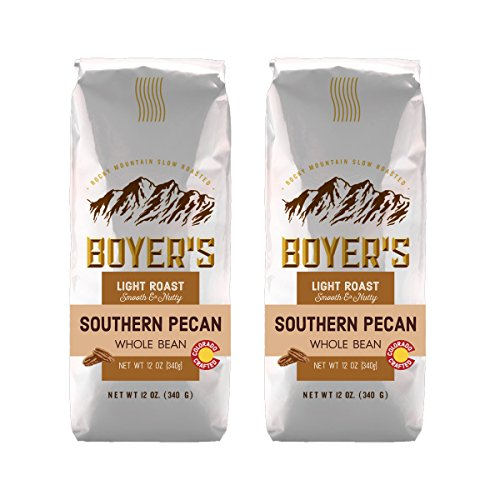 Pecan Bean Whole - Southern Pecan Flavored Coffee, Whole Bean, 12oz (Pack of 2)