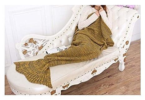 L&L L & L® Hecho a mano Cola de sirena manta de punto Cocoon sofá