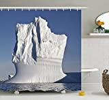 Colorful Pictures of Iceland and Northpole Polyester Waterproof Shower Curtain-Bathroom Accessories For Women 66x72