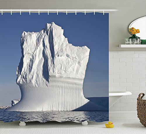 Colorful Pictures of Iceland and Northpole Polyester Waterproof Shower Curtain-Bathroom Accessories For Women 66x72 by Nature Shower Curtain