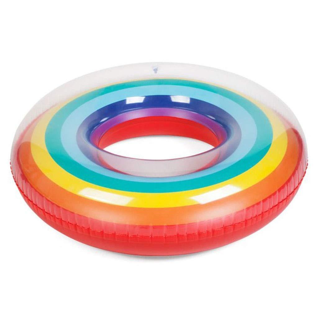 Regenbogen-aufblasbare Schwimmring, Schwimmende Reihe, Schwimmring Für Erwachsene, Sommer-Wasserspielzeug, Pool-Party-Spielzeug, Außenschwimmen, Erwachsenen-Rettungsring (größe   110(With handle))B07Q2B45G3Schwimmhilfen & ZubehörÄsth