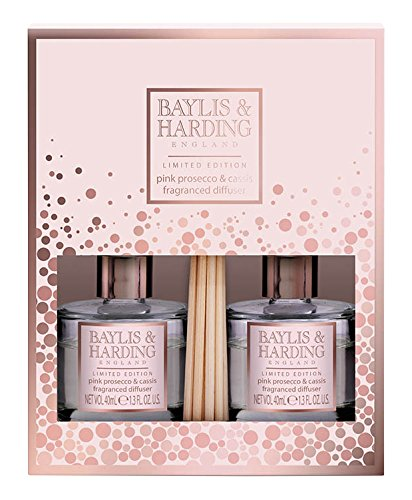 Baylis & Harding Pink Prosecco and Cassis Duo Diffuser Set BMPPDUODIF