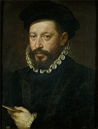 High Quality Polyster Canvas ,the High Quality Art Decorative Prints On Canvas Of Oil Painting 'Anonymous Retrato De Hombre De 54 Anos 1575 1600 ', 10 X 13 Inch / 25 X 33 Cm Is Best For Foyer Artwork And Home Decoration And Gifts
