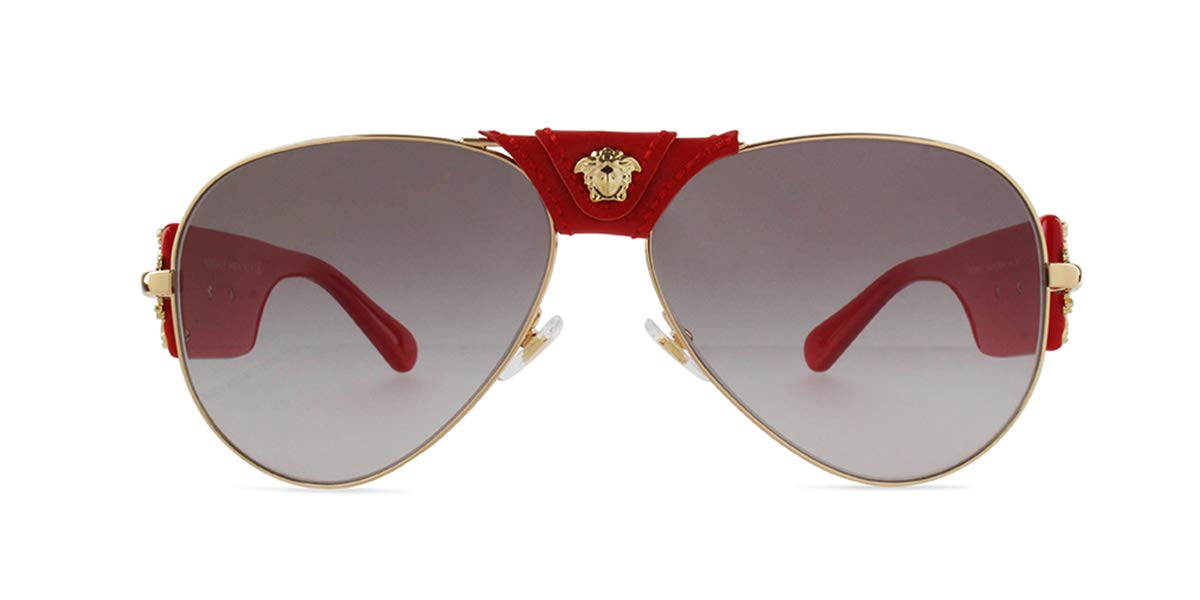 Versace VE2150Q Sunglasses 100211-62 - Gold Frame, Grey Gradient VE2150Q-100211-62 by Versace