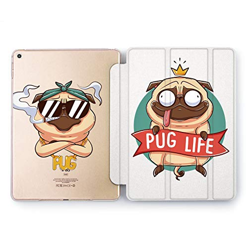 Wonder Wild Pug Life iPad Case 9.7 Pro inch Mini 1 2 3 4 Air 2 10.5 12.9 2018 2017 Design 5th 6th Gen Clear Print Smart Hard Cover Adorable -