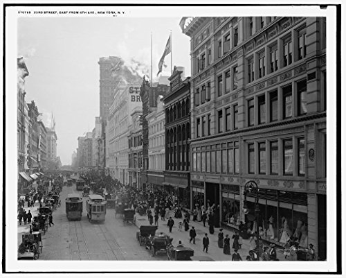 24 x 20 Art Canvas Print of c. 1908 23rd Twenty-third Street east from 6th Ave Sixth Avenue New York NY by Detroit Publishing Co - 6th New Ave York