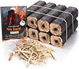Instafire Fire-Logs - Firewood Logs - Easy Fire - Safe, Efficient, Environmentally Friendly - 8 Pack