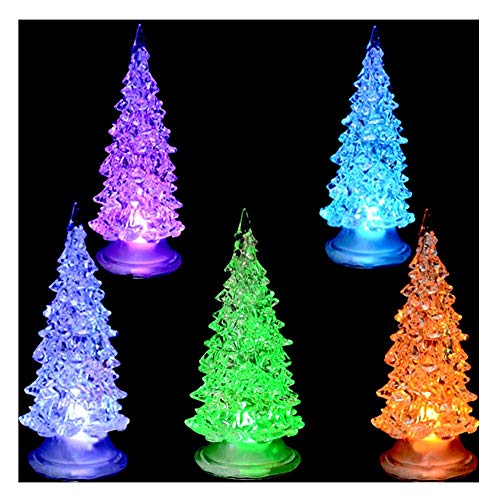 7 Color Christmas Xmas Tree Fiber Optic Led Night Light in US - 8