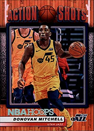 756337a0ff40c Amazon.com: 2018-19 Panini Hoops Action Shots #1 Donovan Mitchell ...