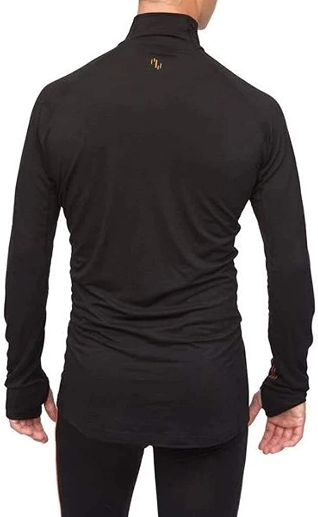Merino Wool Base Layer Top Zipneck Wool Mens Thermal Underwear Top Northern Playground