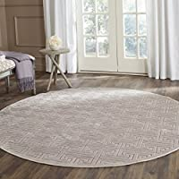 Safavieh Paradise Collection PAR641F Mauve and Violet Viscose Round Area Rug (67 Diameter)