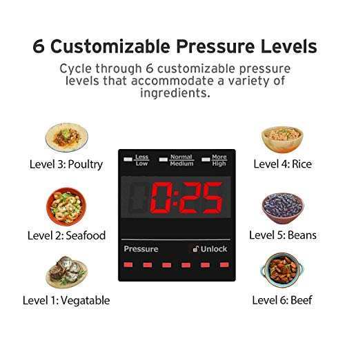 COSORI Upgraded 6 Quart 9-in-1 Programmable Pressure Cooker with 16 Built-In Programs, Stainless Steel Pot & All Cooking Essentials, Slow Cooker,Rice Cooker,Steamer,Sauté,Yogurt Maker,Hot Pot & Warmer by COSORI (Image #7)'